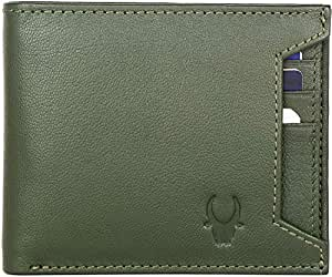 WildHorn® RFID Protected Genuine High Quality Leather Wallet for Men(Green)