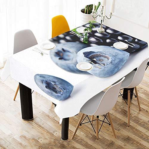 Yushg tovaglioli in cotone stampato su misura in lino con motivo floreale resistente alle macchie tovaglioli in lino per la casa cucina da tavola tovaglia da tavola 60x84 pollici