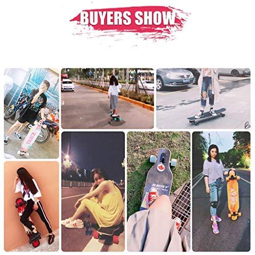 Huab Outdoor Sports/Stunts Skateboards Elektrisches Skateboard Allrad Erwachsenenbildung Generation Step Artifact Longboard Jugend Kinderroller,Schwarz -