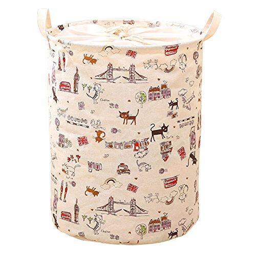 hangnuo-pieghevole-cotone-e-lino-cesto-biancheria-cesto-giocattoli-pop-up-organizer-bins-cartoon-cat