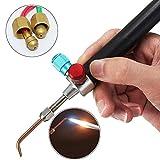 Micro Mini Little Fackel Löten Schweißen, Schläuche für Juweliere Schmuck mit Einwegkarten Gas- und Sauerstoffflaschen - Acetylen