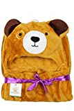 Ole Baby Soft and Fluffy Hooded Mink Bla...