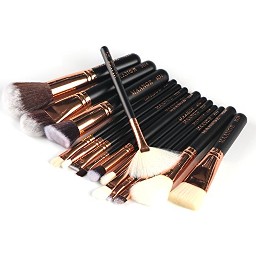 ROMANTIC BEAR Pinceaux de maquillage 15PCS Set pinceaux fard a paupieres fard a joues professionnelle Set Kit