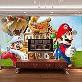 Super Mario Photo Fond D'écran 3d Mur Mural Jeu Papier Peint Enfants Chambre Garçons Chambre Art Room Decor (H) 250 * (W) 175cm un