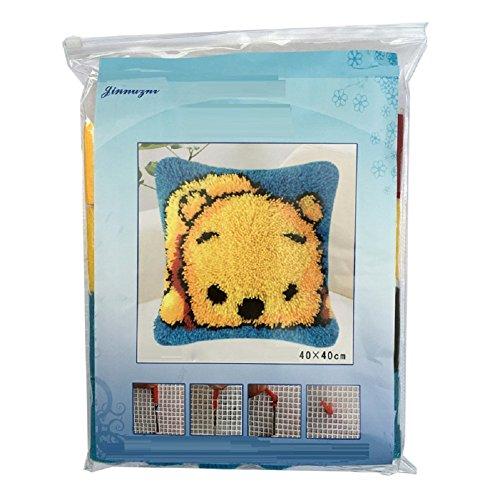 VIOY Wolle Dreidimensionale Kreuzstich Teppich Stickerei Abschnitt Stickerei Bodenmatte Handgemachte DIY Bett Matte,Farbe,Einheitsgröße