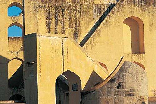 """Quadro con cornice: Anonymous """"Jantar Mantar astronomical observatory"""" - stampa artistica decorativa, cornice di alta qualità, 45x30 cm, nero / angolo grigio"""