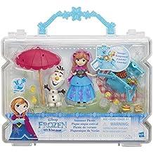 Hasbro Disney Frozen Little Kingdom Summer Picnic muñeca - Muñecas (Multicolor, (Juego) macho y hembra, Chica, 4 año(s), Anna, Olaf, Canasta)