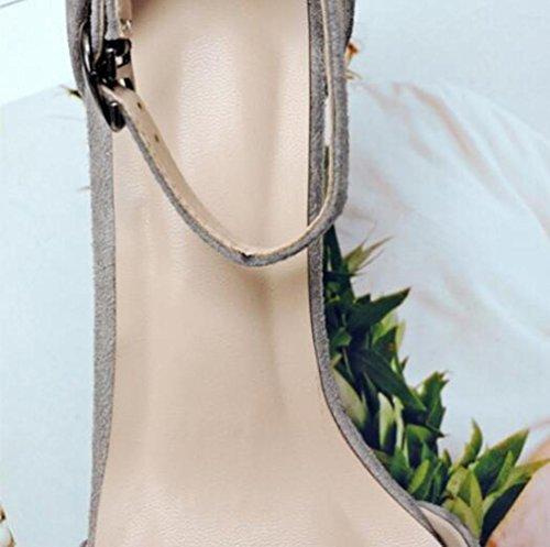 OL Pompe Scrub di nozze Cinghie di caviglia Peep Toe Chunky Mid Heel Donne Scarpe casuali UE Taglia 34-39 army green