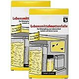 com-four® 4X Lebensmittelmottenfalle, zur Bekämpfung von Lebensmittelmotten und deren Larven (04 Stück - Lebensmittelmottenfalle)