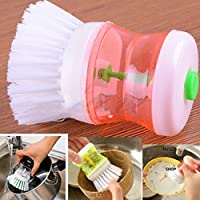 igemy lavado utensilios de cocina Pot Dish Brush con Washing Up Liquid Dispensador De Jabón