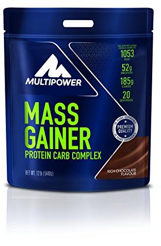 Multipower Mass Gainer Rich Chocolate - Weight Gainer für den schnellen Muskelaufbau - Eiweißpulver mit hochwertigen Proteinen und Kohlenhydraten - Schoko - 5,44 kg (Egg Vanille Protein)