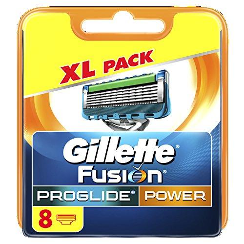 Gillette Fusion ProGlide Power Men's Razor Blades, 8 Blades