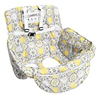 P Prettyia 2-in-1 Shopping Cart Cover and High Chair Cover Safety Harness for Baby Kids