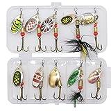 Best Fishing Spoons - 10pcs with box : 10pcs/lot LUSHAZER fishing spoon Review