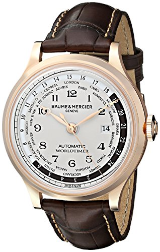baume-et-mercier-capeland-10107-44mm-automatic-18k-rose-gold-case-brown-leather-anti-reflective-sapp
