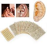 Allbestaye 600 Stücke Ohrsamen Pflaster Vaccaria Seed für Ohr Akupressur Ear Acupoints Sticker Beads Massage Stickers Disposable Ear Press Patch