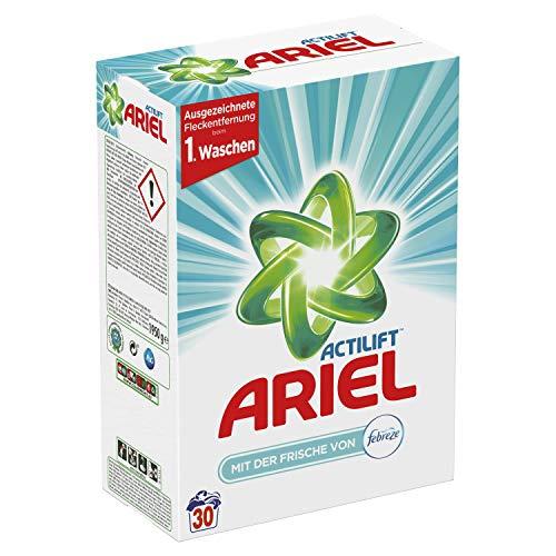 Ariel Vollwaschmittel Pulver (mit der Frische von Febreze) 1,95 Kg, 30Waschladungen (2er pack)