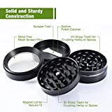 from TOPELEK Herb Grinder, TopElek Portable Zinc Alloy Grinder Herb, Best Grinder for tobacco and most herbs with Pollen Scraper and Magnetic Top, 2.0 Inches, 4 Layers  Black