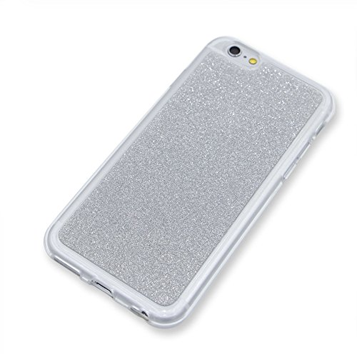per iPhone SE/ 5S/ 5 Custodia case,Herzzer Mode Crystal per iPhone SE/ 5S/ 5 Creativo Elegante Transition Color con anello cover,Protettivo Skin lusso di Cristallo Diamante Glitter Bling Gradiente Col Argento