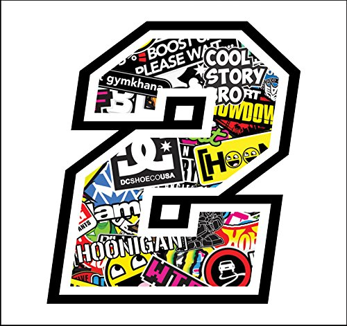 Adhesive Race - 2-12 cm - Sticker Bomb - Cross Pista de...