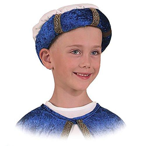 ban Heilige DREI Könige Weihnachten Kostüm Karneval Turban, f. Kinder (blau) ()