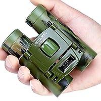 USCAMEL Folding Pocket Binoculars Compact Travel Mini Telescope HD Bak4 Optics Lenes Easy Focus Camouflage