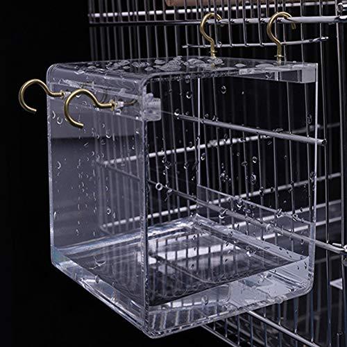 Transparentes Haustier Vogel Badehaus, mit hängenden Haken für Papageien Nymphensittiche Parakeets l