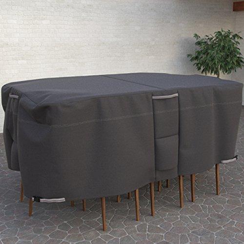 Dura Bezüge-taupe Kollektion Oval Rechteck Patio Tisch und Stuhl Cover-PREMIUM Outdoor Möbel mit Robust und wasserfest Stoff, groß (Akzent-stuhl-tabellen)