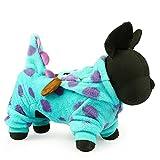 Vestiti per cani, Cappotto con cappuccio in velluto di corallo di cane Cappotto invernale con cappuccio in velluto per cani Cappotto di moda con cappuccio per cani ( Color : Blue , Size : XS )