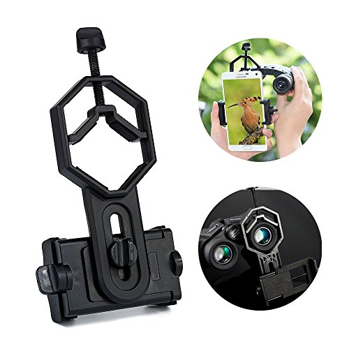 Surplex Universal Telefon/Smartphone Adapter und Mount Stativ-Halterung für iPhone Sony Samsung Moto - Kamera- Spektiv Teleskop, Spektiv, Monokular, Fernglas, Mikroskop