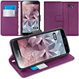 Orzly® - Multi-Function Wallet Stand Case for SAMSUNG GALAXY S6 - FUNDA / CAJA con PORTFOLIO + SOPORTE INTEGRADO y Tapa magnético - Carcasa de protección en PÚRPURA - Diseño exclusivo para SAMSUNG GALAXY S6 SmartPhone / Teléfono Móvil / Phablet (2015 Modelo)