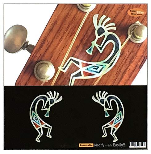 Kokopelli HOPI Inlay Aufkleber, L&R Set Gitarre & Bass Knob Body - Mop Indische