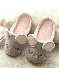 SED Zapatillas - Zapatillas de casa de Dibujos Animados de otoño e Invierno Zapatillas de algodón