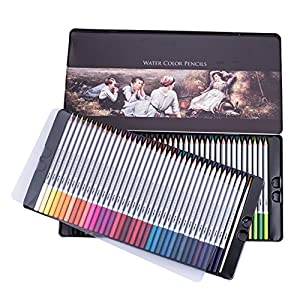 Útil: IVENUS Juego de 72 lápices de colores profesionales para libros de colorear para...