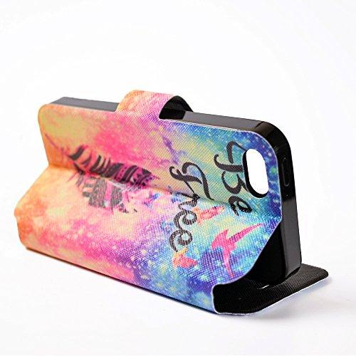 Cover iPhone 7 Plus, CaseLover iPhone 7 Plus 5.5 Custodia Pelle 3D Magnetico Protettiva Stampata Portafoglio con Sottile Silicone Morbido Case Cinturino Card Slot Antigraffio Flip PU Supporto Funzion Cacciatore di sogni