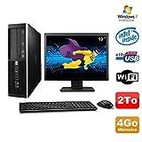 Lot PC HP Elite 6000 Pro SFF E5400 2.7 GHz 4GB Disk 2To WIFI W7 Pro + Screen 19
