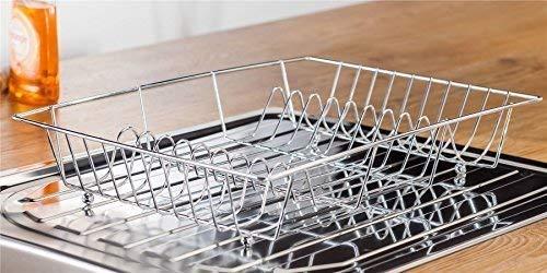 Acero Inoxidable Plata Cocina ESCURREPLATOS Organizador 9 ranuras 48 x 32 x...