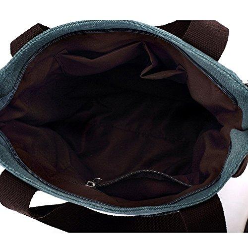 VRIKOO Women's Canvas Cartoon Cat Handbag Tote Mummy Bag Lightweight Shoulder Shopping Bags Verde Chiaro