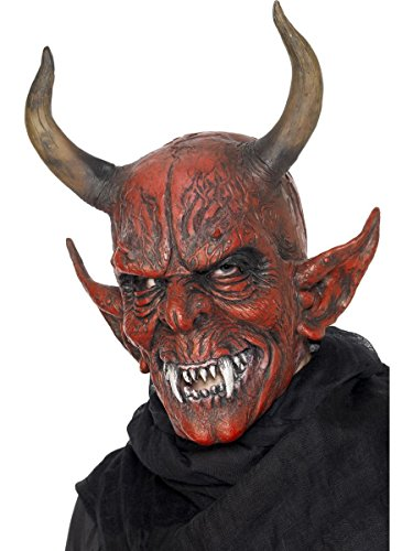 Smiffys Kostüm Zubehör Überkopf Maske Teufel Dämon Höllenfürst Halloween