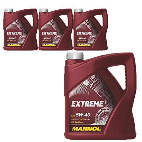 MANNOL Extreme 5W-40 API SN/CF, 4 x 5 Liter