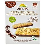 Sarchio Snack Crispy Rice con Cioccolato Fondente Extra - Biologico - senza glutine - 4 Confezioni da 100 g