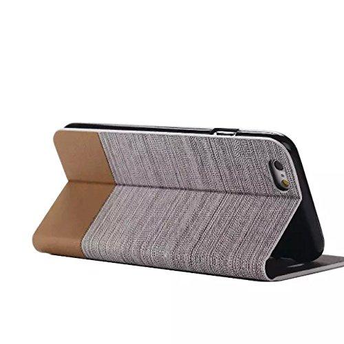 iPhone Case Cover Caractéristiques: pour les Marques et Modèle: iPhone 6 6S Caractéristiques: stands Case Matériel: cuir PU + Silicone Style: avec fente pour carte Couleur: Couleurs assorties Dimensio 2