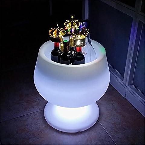 XIAOMINZI Luce Led Secchiello Per Il Ghiaccio Bar Ktv Luminoso Colorato Secchiello Per Il Ghiaccio Champagne Vino Birra La Forma Del Bicchiere Grande Secchiello Per Ghiaccio