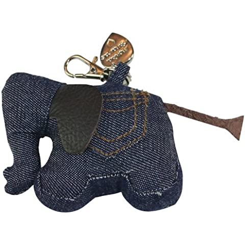 Richard Monica extra-small elefante cotone chiave di fascino, denim / blu