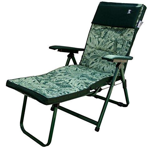 Dimaplast2000 madrid sdraio relax super lusso, verde fantasia, 176x60x30 cm