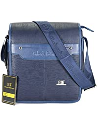 Roberto Ballmore Unisex Leatherette Shoulder Sling Bag / Messenger Bag Blue