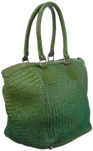 Taschendieb TD0022, Borsa a spalla donna, 45x35x8 cm (L x A x P) Verde (Grün (grün))
