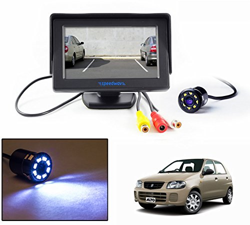 "speedwav 4.3"" lcd tft monitor & led reverse parking camera-maruti alto old Speedwav 4.3″ LCD TFT Monitor & LED Reverse Parking Camera-Maruti Alto Old 51x9bYAtT4L"