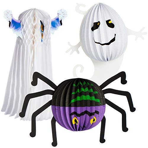 Com-four® Linterna 3X Motivos espeluznantes Halloween