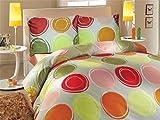 Set di biancheria da letto Optimum Green Satin Cotone Saldi, Cotone, verde, 200x220+2x80x80